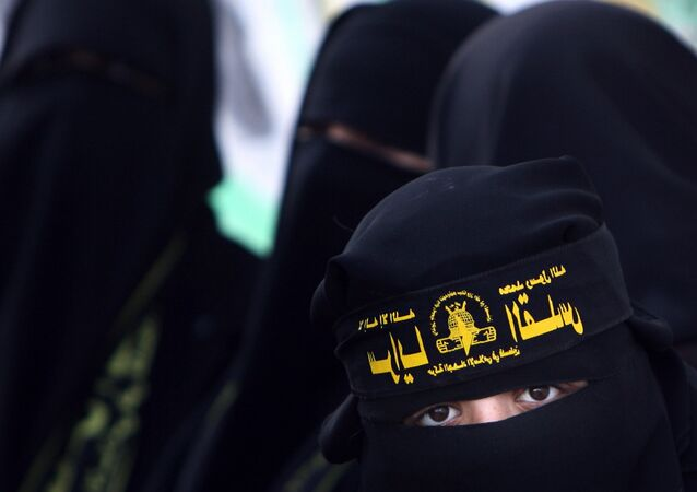 Female supporters of Islamic jihad