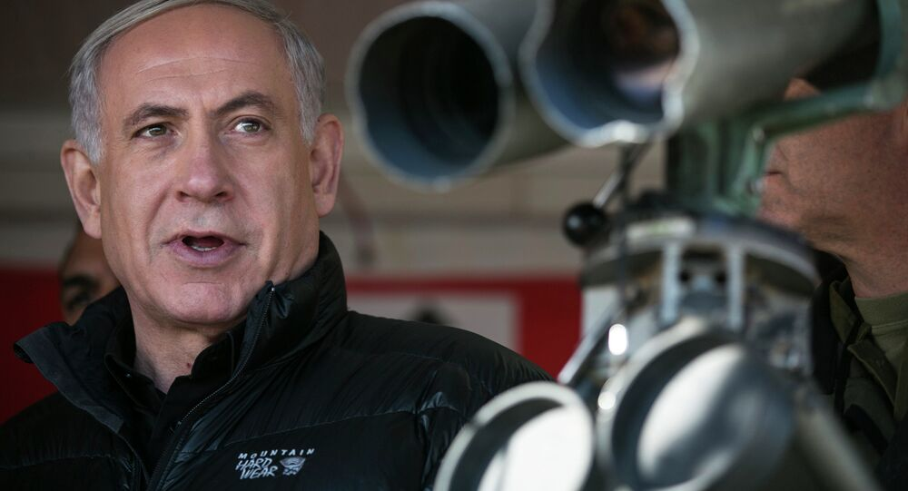 Israel's Prime Minister Benjamin Netanyahu visits at a military outpost during a visit at Mount Hermon in the Israeli-controlled Golan Heights overlooking the Israel-Syria border. (File)