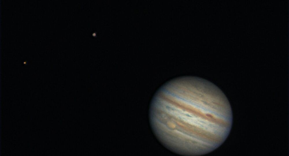 Jupiter, and it's two moons Europa and Ganymede.