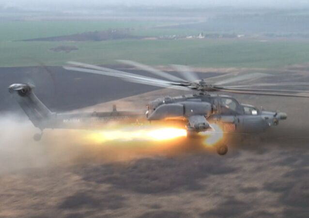 Night Hunter and Terminator Helicopters Hit Targets During Russian Air Force Drills