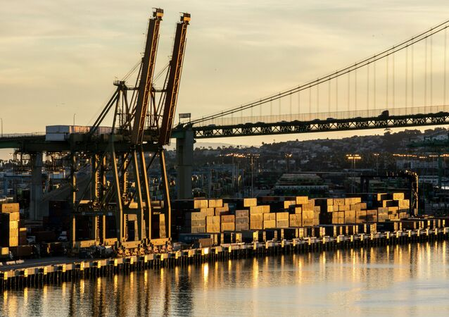 Cargo Piles up at Port of Los Angeles