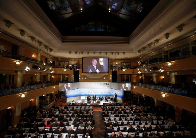 General view of the 51st Munich Security Conference at the 'Bayerischer Hof' hotel in Munich February 7, 2015