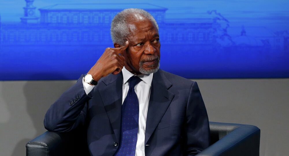 Former UN Secretary General Kofi Anan attends the opening session of the 51st Munich Security Conference at the 'Bayerischer Hof' hotel in Munich February 7, 2015