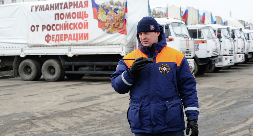 Yet another Russian humanitarian convoy has successfully delivered aid to the crisis-torn Donbas , and all vehicles have returned to Russia