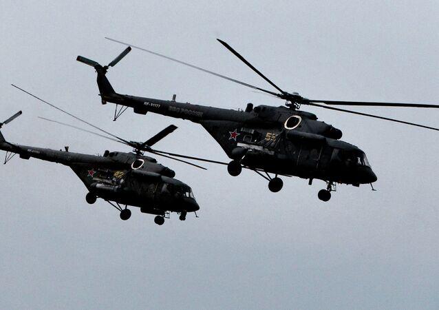 Mi-8 AMTSh helicopters