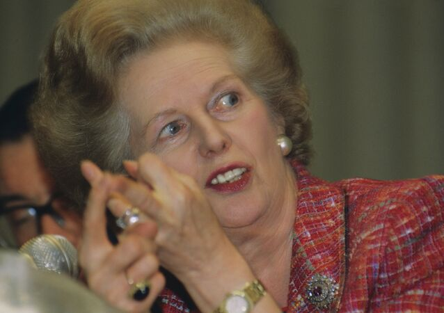 Former British Prime Minister Margaret Thatcher in 1991