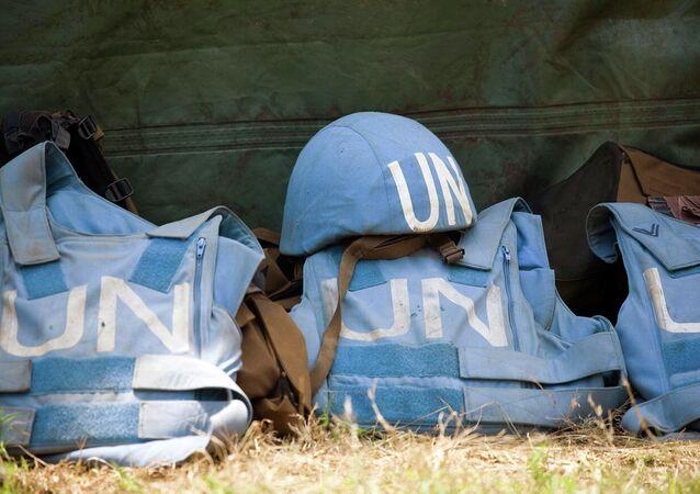 Helmet and Flack Jackets of UN Peacekeepers