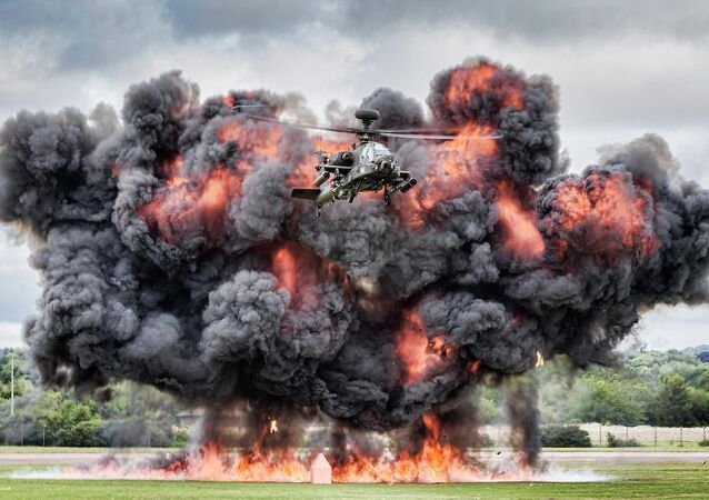 Apache Helicopter Display at Royal International Air Tattoo 2014