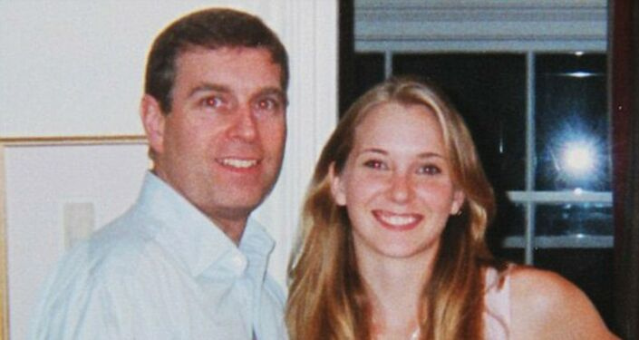 Virginia Roberts alleged that she was 17 when she was forced to have sex with Prince Andrew, pictured here with Roberts in early 2001.