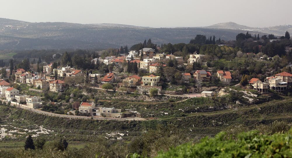 A picture shows a partial view of the Israeli settlement of Qadumim (Kedumim), near the Palestinian town of Nablus, in the Israeli-occupied West Bank, on February 9, 2015