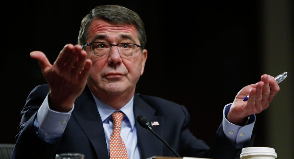 Ashton Carter, U.S. President Barack Obama's nominee to be secretary of defense, testifies before a Senate Armed Services Committee confirmation hearing on Capitol Hill in Washington, in this February 4, 2015 file photo
