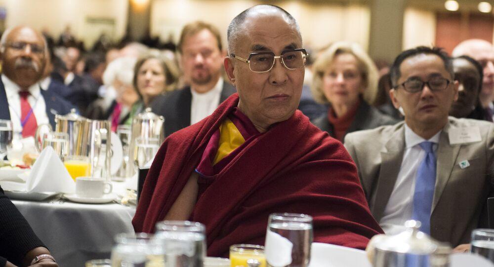 The Dalai Lama attending the National Prayer Breakfast in Washington, DC, February 5, 2015