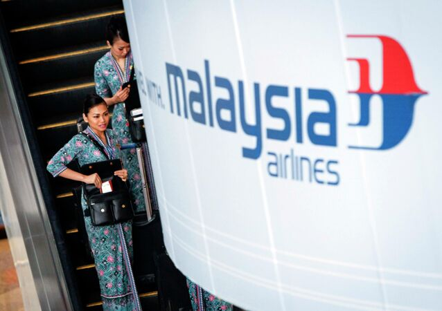 Malaysia Airlines flight crew members