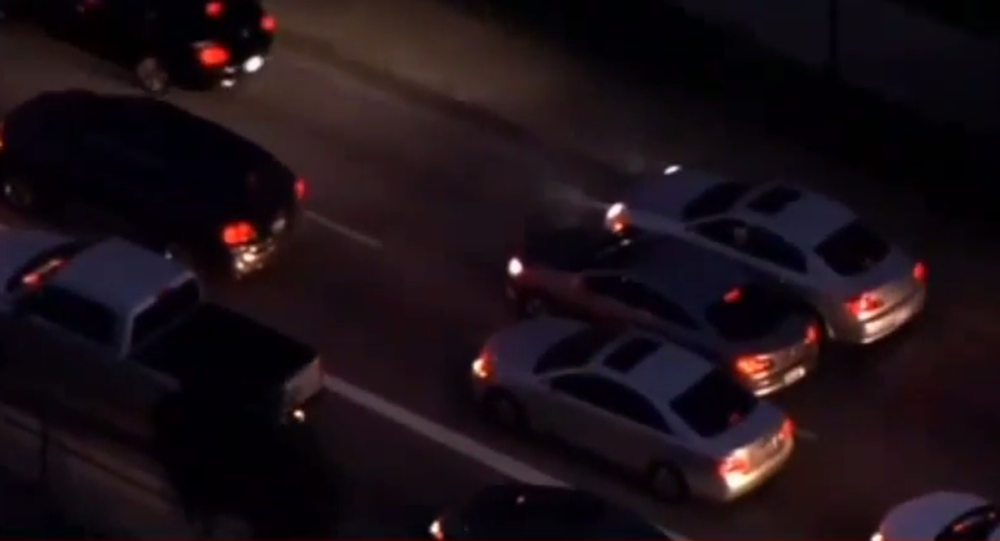 The chase happened during the middle of rush hour, which caused several wrecks and created travel headaches for Los Angeles drivers.
