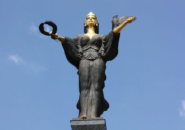 Statue of St. Sofia by Georgi Chapkunov. Sofia, Bulgaria