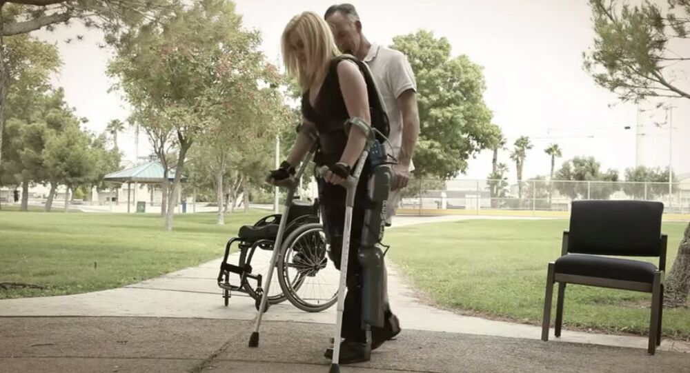 The exoskeleton, the Rewalk, is used to allow the paralyzed to walk