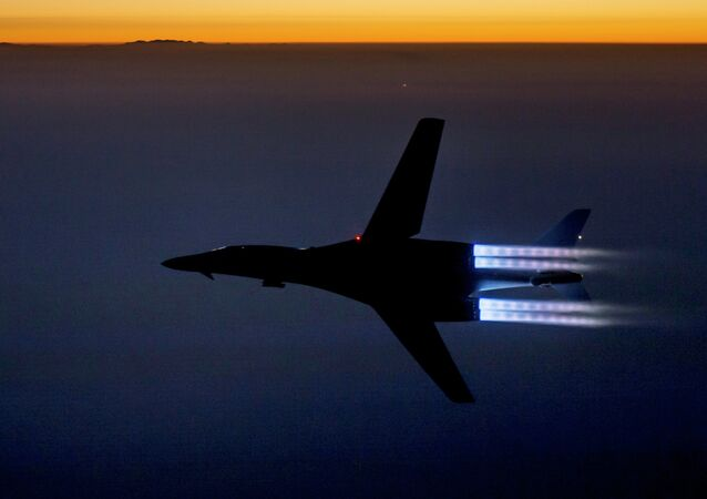 U.S. Air Force, a fighter jet flies over northern Iraq after conducting airstrikes in Syria against Islamic State group targets in Syria.