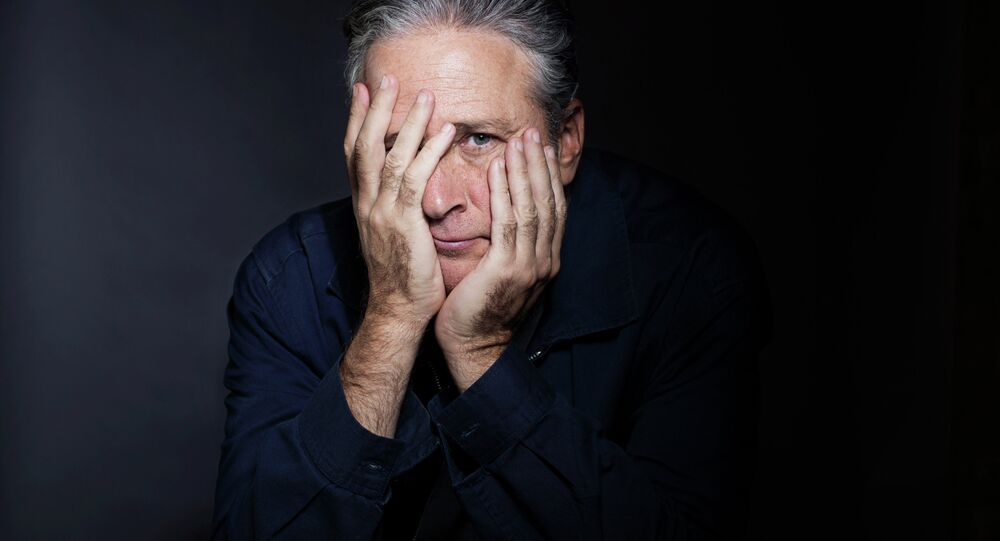Jon Stewart poses for a portrait in promotion of his forthcoming directorial and screenwriting feature debut Rosewater.