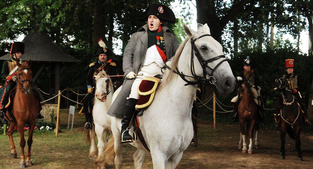 Actors re-enact the battle of Waterloo in Waterloo, Belgium, Saturday June 16, 2007