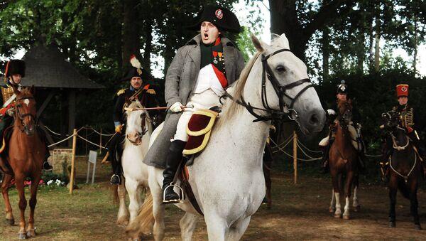 Actors re-enact the battle of Waterloo in Waterloo, Belgium, Saturday June 16, 2007 - Sputnik International