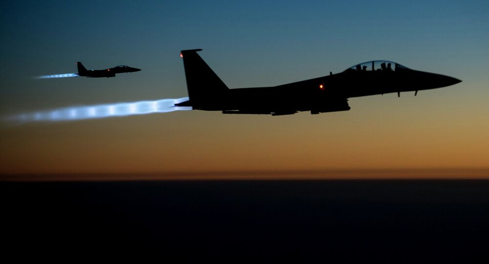 US Air Force F-15E Strike Eagles conduct airstrikes in Syria and Iraq