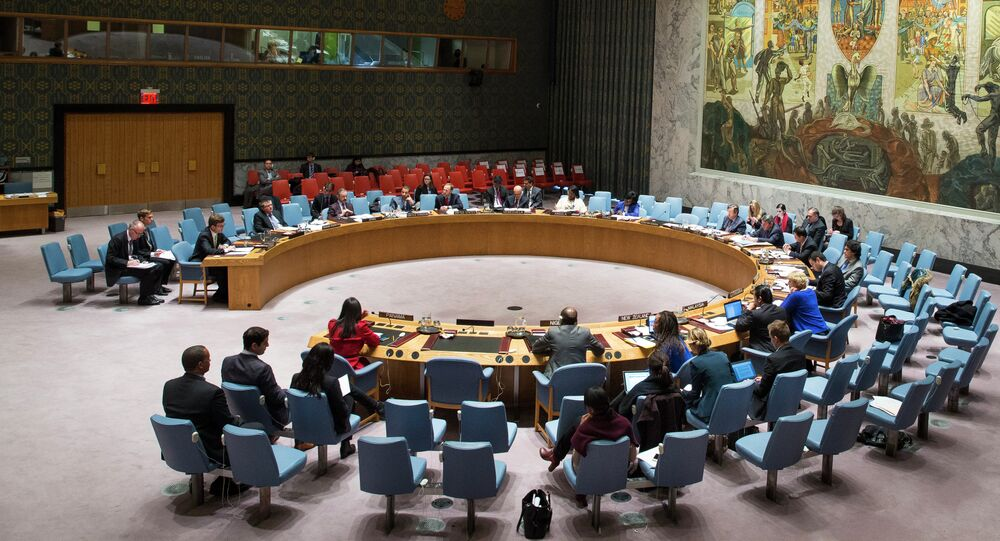 An ongoing United Nations Security Council meeting convenes at the UN headquarters Monday, Jan 19, 2015