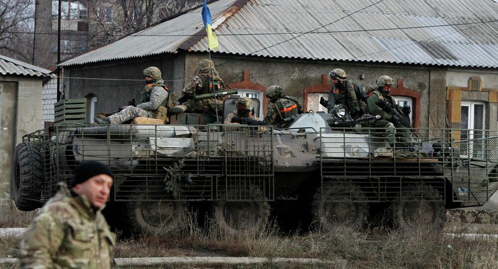 Ukrainian government army soldiers
