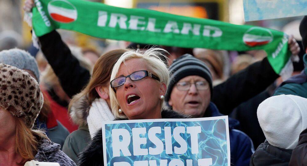 Protestors in Dublin