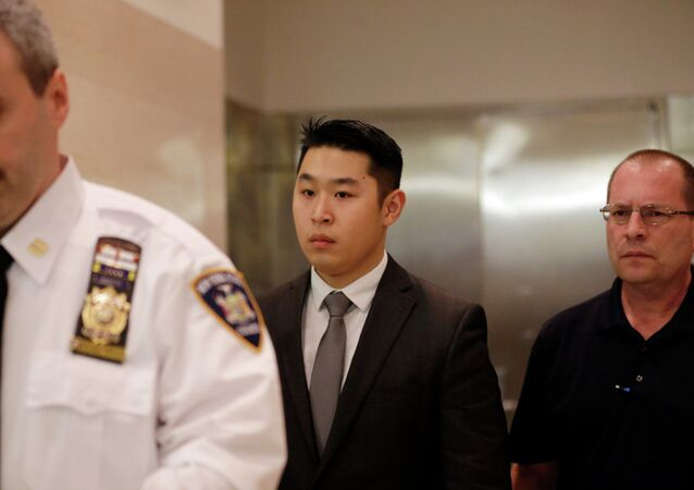 Peter Liang, the New York City police officer convicted in the shooting death of Akai Gurley in the stairwell of a Brooklyn housing project.