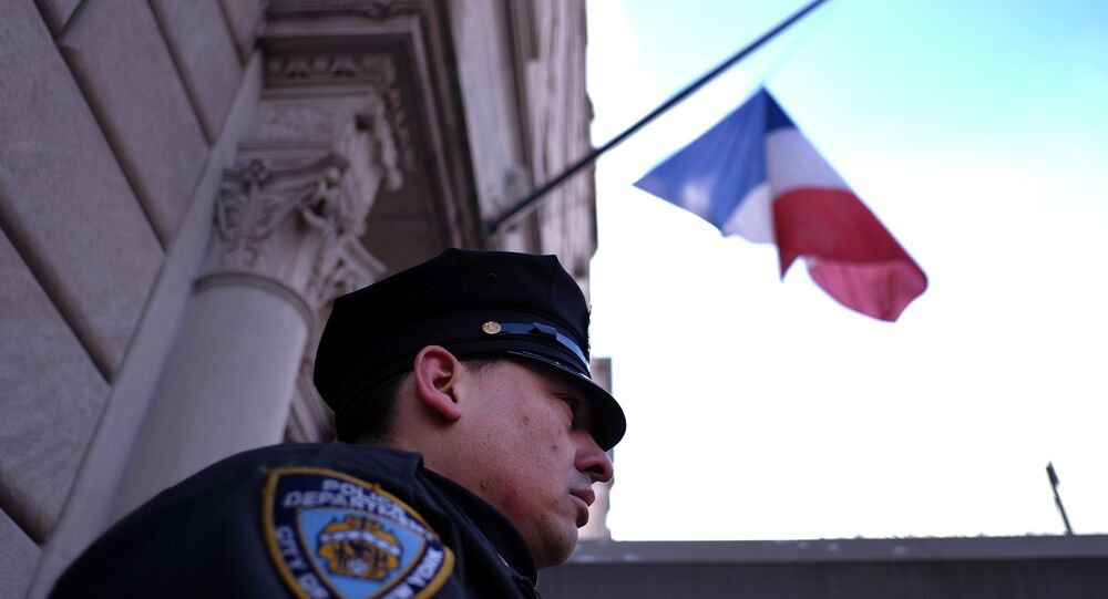 A New York Police Department (NYPD) officer