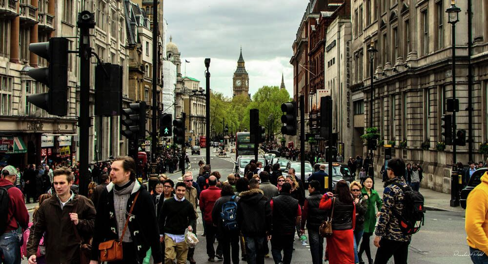 People walking in the streets of London