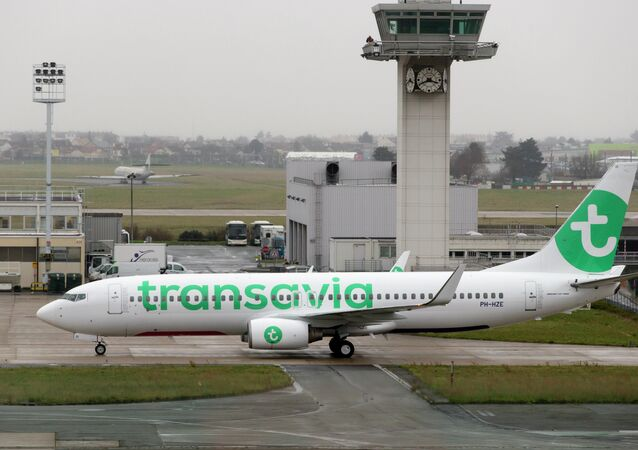 A Boeing 737-800 aircraft of low-cost airliner Transavia