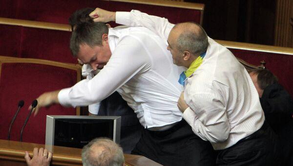 Fight in Verkhovna Rada in Kiev - Sputnik International
