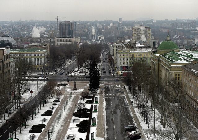 View of the center of Donetsk. (File)