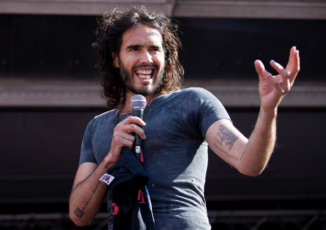 British actor and comedian Russell Brand