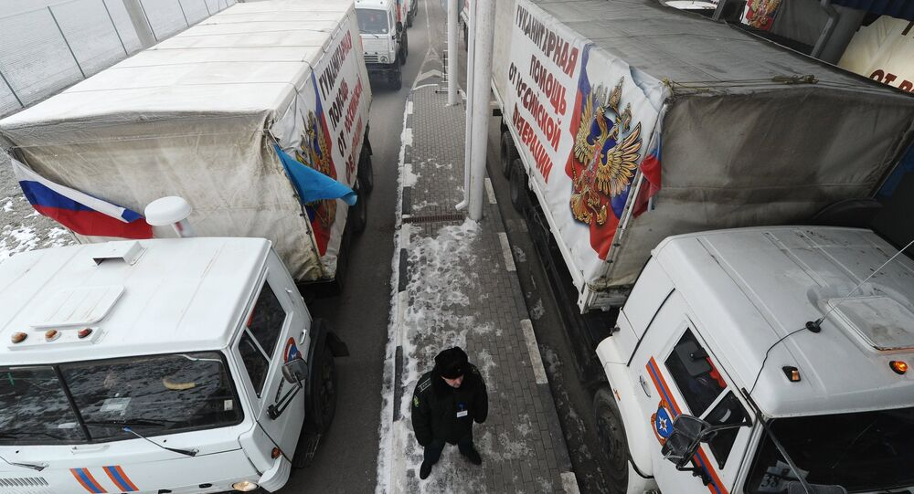 Russia's 14th humanitarian aid convoy for southeast Ukraine