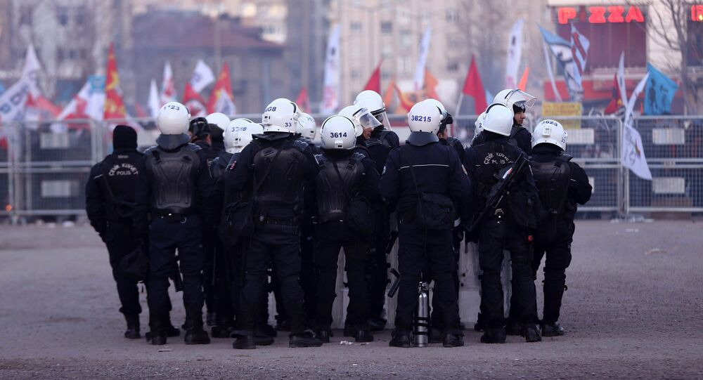Turkish police officers