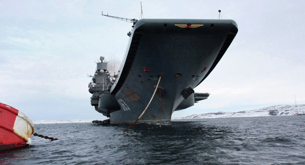 Russia's Northern Fleet aircraft-carrying heavy cruiser Admiral Kuznetsov