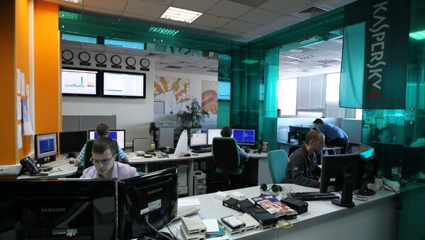 Employees of anti-virus program development Kaspersky Lab work at their company's offices in Moscow, on March 10, 2011 - Sputnik International
