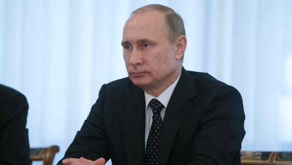 Vladimir Putin meets with - Sputnik International