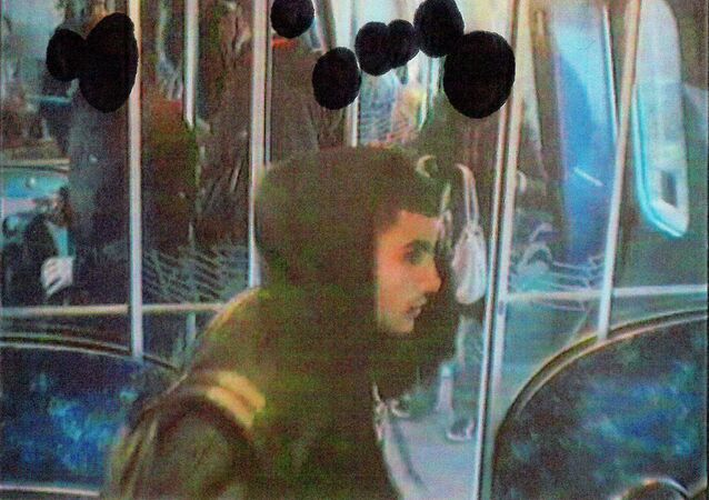 An image released by Danish police shows Omar Abdel Hamid El-Hussein on a subway train in connection to a stabbing in Copenhangen on November 22, 2013, and received by Reuters on February 16, 2015