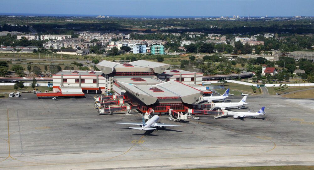 Jose Marti International airport in Havana, Cuba