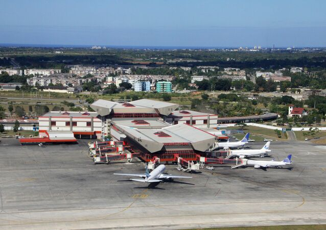 Jose Marti International airport in Havana, Cuba