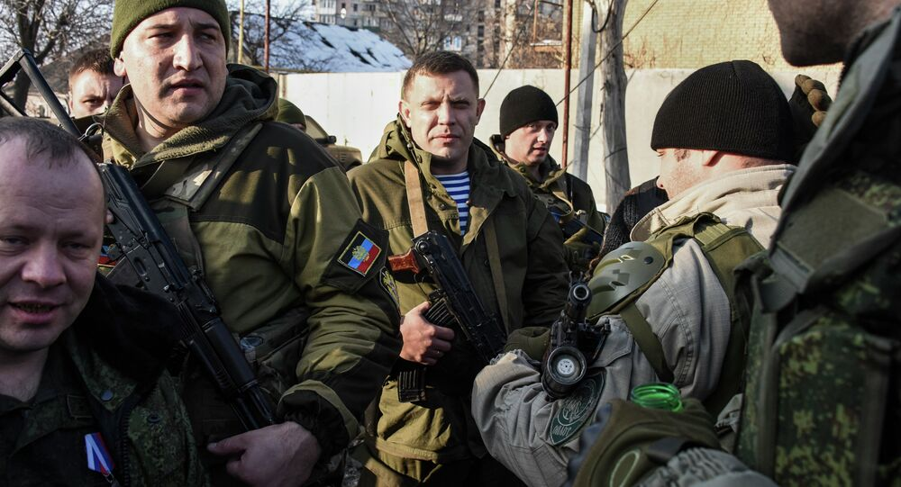 The leader of the self-proclaimed Donetsk People's Republic, Alexander Zakharchenko, was injured in the leg Tuesday in the eastern Ukrainian town of Debaltseve, LifeNews reported.