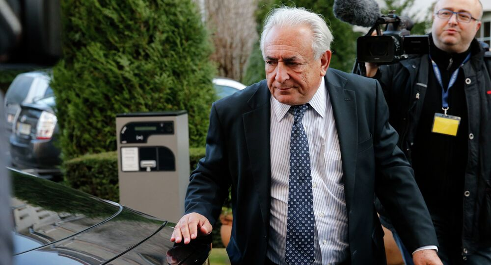 Former IMF head Dominique Strauss-Kahn returns to his hotel after attending the trial in the so-called Carlton Affair, in Lille, February 17, 2015