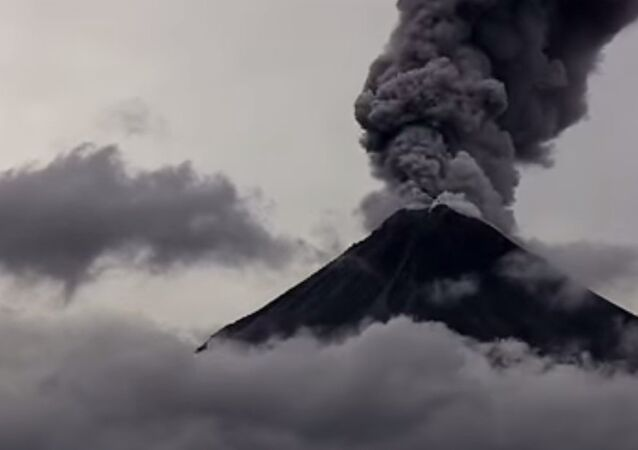 The eruption of the Colima volcano in western Mexico on Feb. 16 was dramatically caught on video.