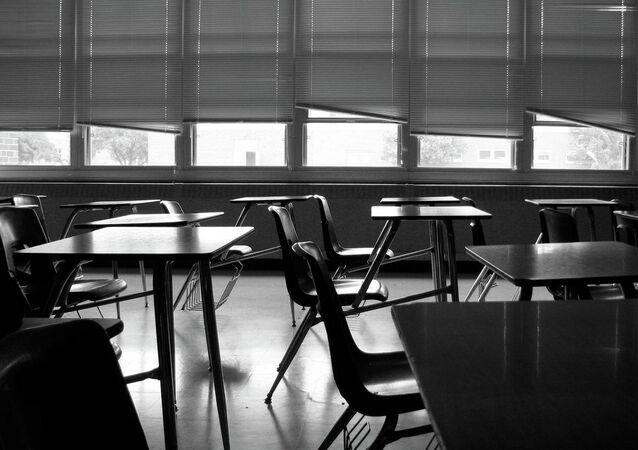 Empty AP history classroom