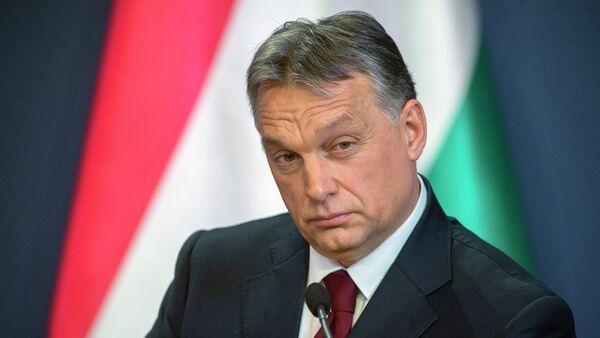 Hungarian Prime Minister Viktor Orban during press conference in the Parliament building in Budapest - Sputnik International