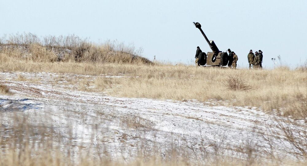 Ukrainian artillery is at a position outside of the village of Luhanske, some 20 kilometers (14 miles) north of Debaltseve, Ukraine, Tuesday, Feb. 17, 2015