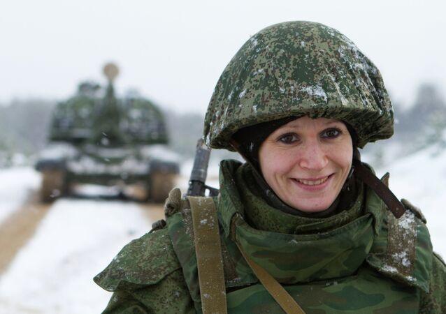 A soldier during a training exercise in Mulino village, Nizhny Novgorod region